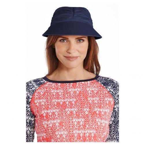 Coolibar---UV-zonneklep-voor-dames---Navy-blauw