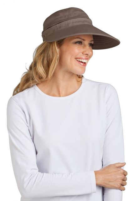 Coolibar---UV-beschermende-zonneklep-en-pet-in-één-dames---mushroom