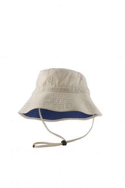 Coolibar---UV-Bucket-Hoed-met-kinband-voor-peuters---Taylor---Beige