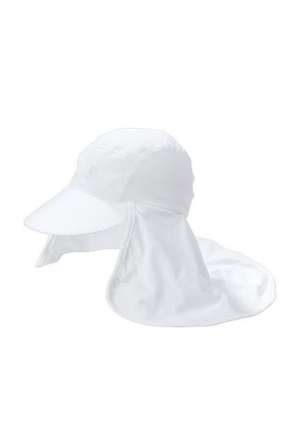 Coolibar---UV-zonnepet-met-flap-voor-heren---Wit