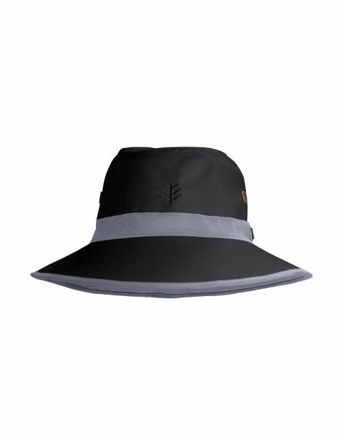 Coolibar---UV-Golfhoed-met-brede-rand-voor-volwassenen---Matchplay---Zwart/Carbon