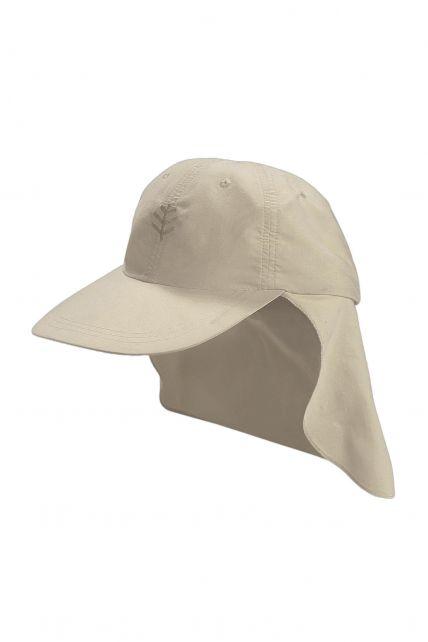 Coolibar---UV-sport-zonnepet-voor-kinderen---Grijs