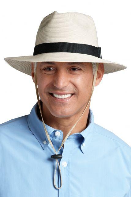 Coolibar---UV-Fedora-hoed-voor-heren---Gebroken-wit