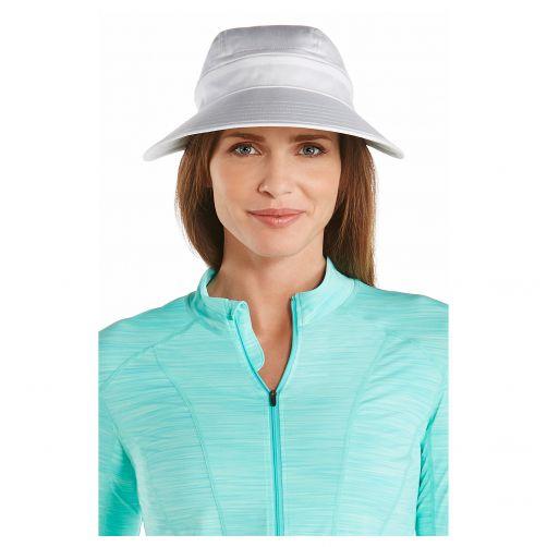 Coolibar---Afritsbare-UV-zonneklep-voor-dames---Wit