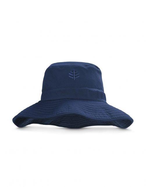 Coolibar---Chloorbestendige-UV-Bucket-Hoed-voor-heren---Nate-CR---Navy