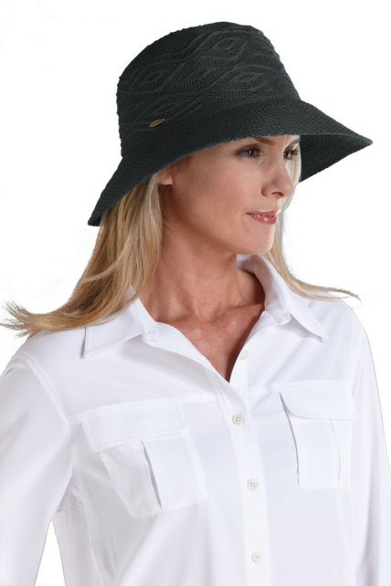 Coolibar---kreukvrije-UV-hoed-dames---Zwart