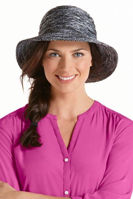 Coolibar---UV-kreukvrije-hoed-voor-dames---Grijs