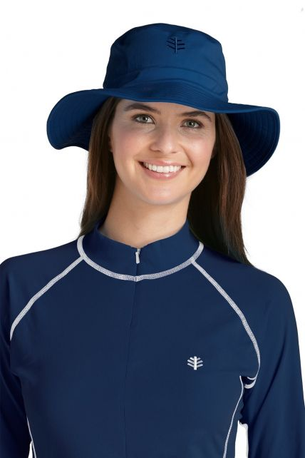 Coolibar---UV-bucket-hoed-unisex---Donkerblauw