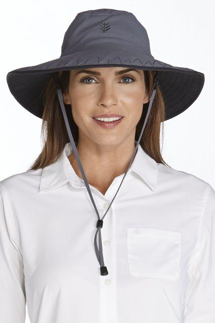 Coolibar---UV-strandhoed-voor-dames---Grijs