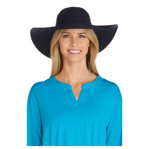Coolibar---UV-zonnehoed-voor-dames---Navy-blauw