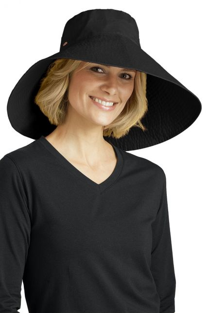 Coolibar---UV-flaphoed-dames---Zwart
