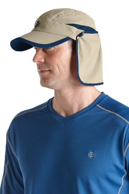 Coolibar---UV-unisex-sport-zonnepet---Donkerbeige