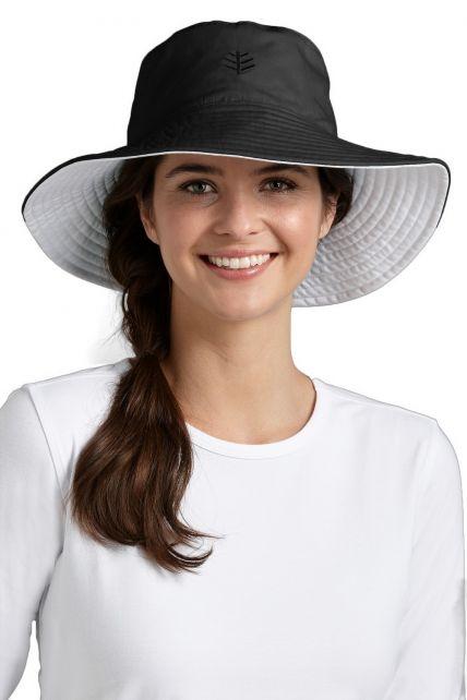 Coolibar---UV-beschermende-hoed-dames---Zwart