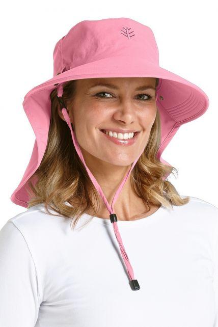 Coolibar---Dames-Ultra-zonnehoed---Roze