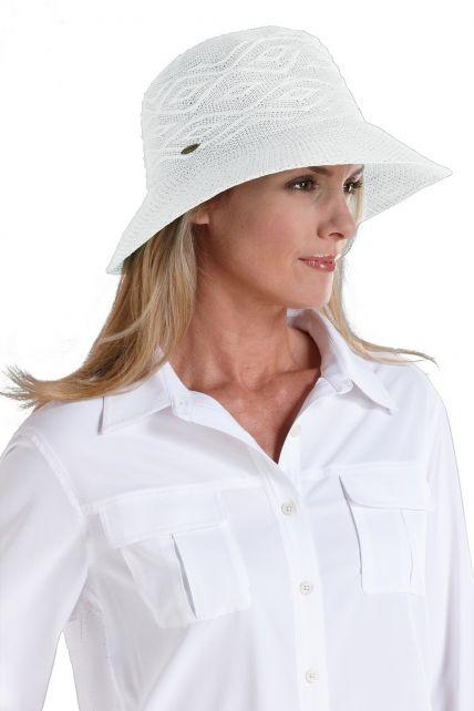 Coolibar---kreukvrije-UV-hoed-dames---Wit