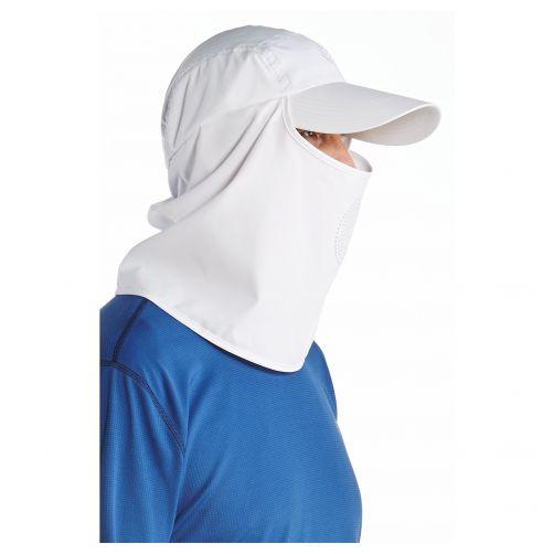 Coolibar---UV-zonnepet-met-hals--en-gezichtsbedekking---Wit