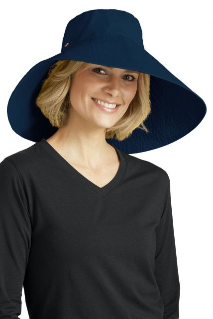 Coolibar---UV-flaphoed-voor-dames---Blauw
