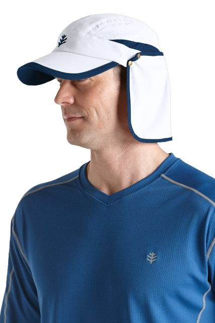 Coolibar---UV-unisex-sport-zonnepet---Wit