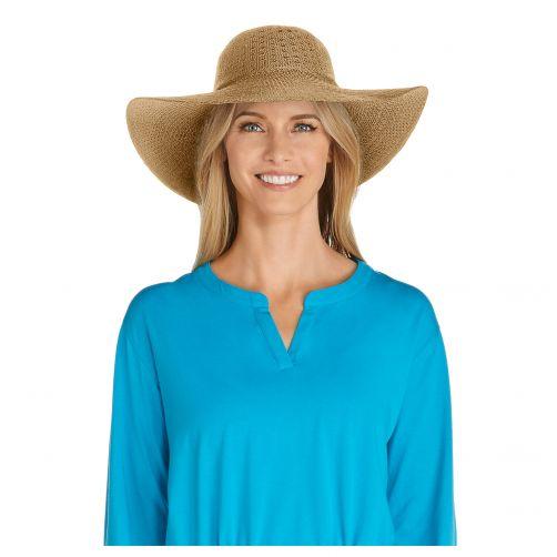 Coolibar---UV-zonnehoed-voor-dames---Geelbruin