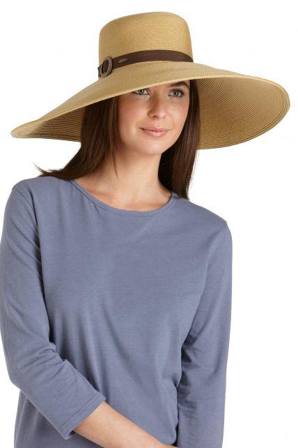 Coolibar---UV-Smartstrawhoed-voor-dames---Beige