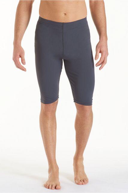 Coolibar---UV-zwemshort-heren---grijs