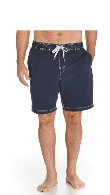 Coolibar---UV-zwemshorts-heren---Donkerblauw