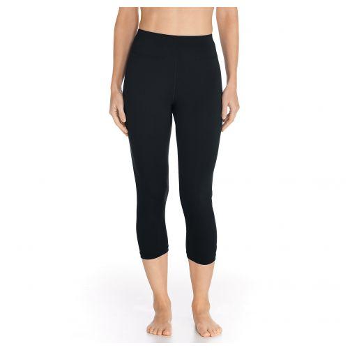 Coolibar---UV-Zwemlegging-Capri-voor-dames---Deep-Water---Zwart