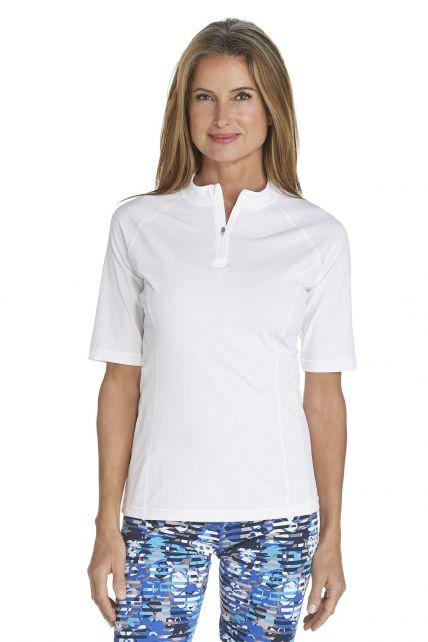 Coolibar---UV-Zwemshirt-voor-dames---Freestyle-Rash-Guard---Wit