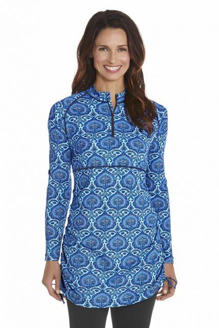 Coolibar---UV-zwemshirt-dames---Blauw