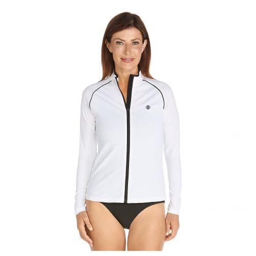 Coolibar---UV-zwemjasje-voor-dames---Zwart-/-wit