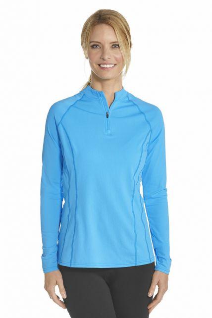 Coolibar---UV-zwemshirt-lange-mouwen-dames---Azure-bauw