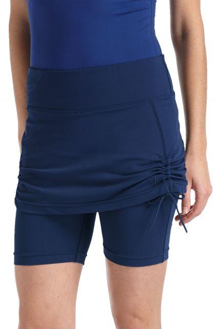 Coolibar---UV-rokje-met-broekje-dames---donkerblauw