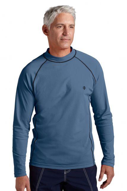 Coolibar---UV-zwemshirt-lange-mouwen-heren---staal-grijs