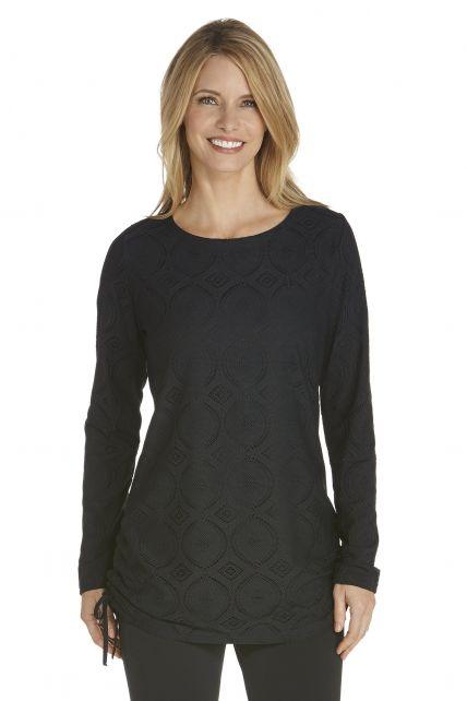 Coolibar---UV-tuniek-dames---zwart-kant