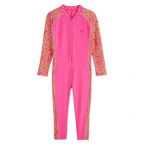 Coolibar---UV-zwempakje-voor-kinderen---Lange-mouwen---Coral-Paisley