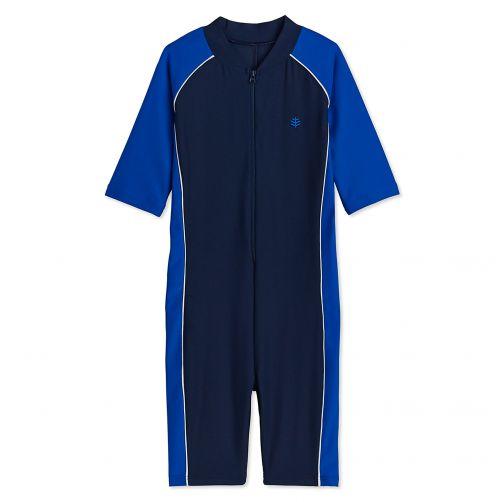 Coolibar---UV-zwempakje-voor-kinderen---Blauw