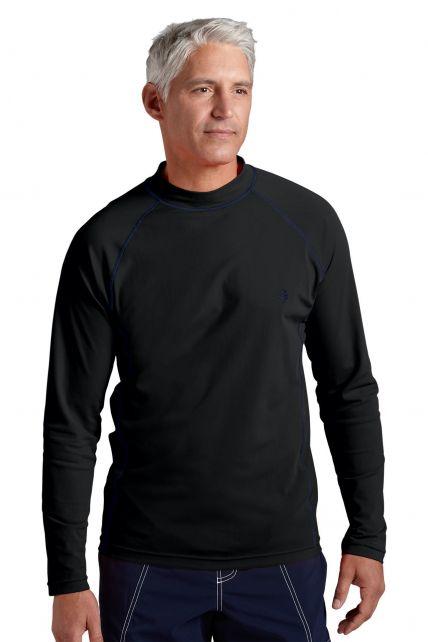 Coolibar---UV-zwemshirt-lange-mouwen-heren---zwart