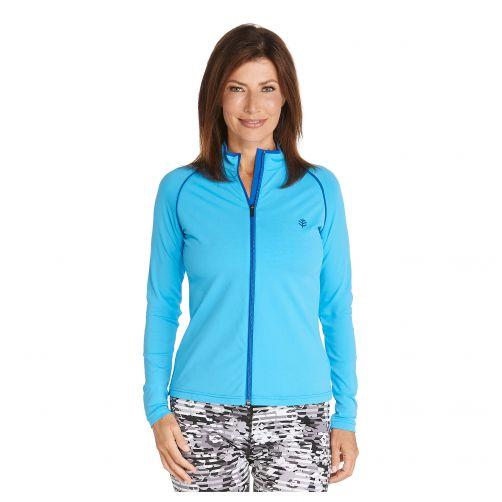 Coolibar---UV-zwemjasje-voor-dames---Azuurblauw