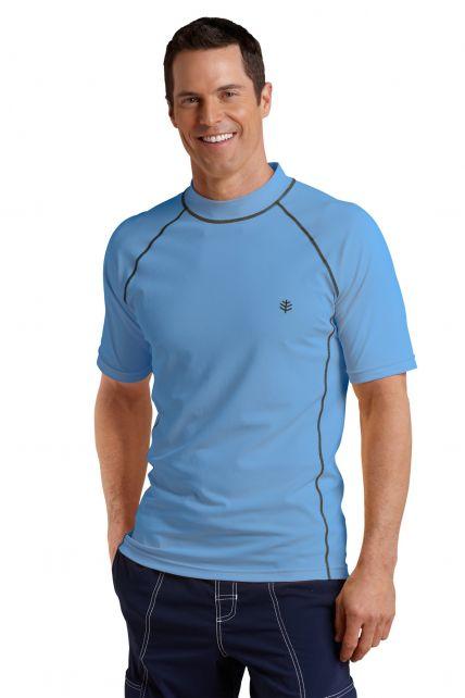 Coolibar---UV-Zwemshirt-voor-heren---Tulum-Rash-Guard---Surf-Blauw