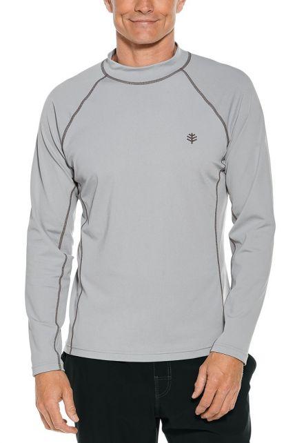 Coolibar---UV-Zwemshirt-voor-heren---Longsleeve---Tulum-Rash---Kwikzilver