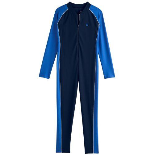 Coolibar---UV-pak-voor-jongens---Lange-mouwen---Navy/Baja-blauw