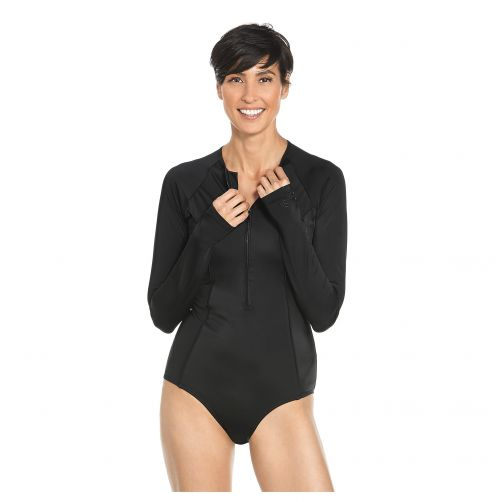 Coolibar---UV-Longsleeve-badpak-voor-dames---Escalante---Zwart