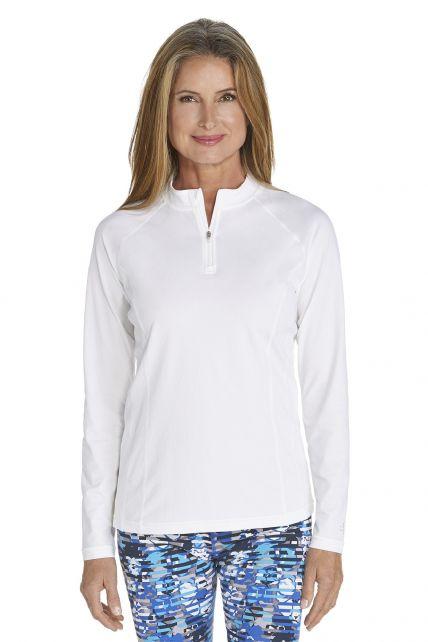 Coolibar---UV-Zwemshirt-voor-dames---Longsleeve---Freestyle-Rash---Wit