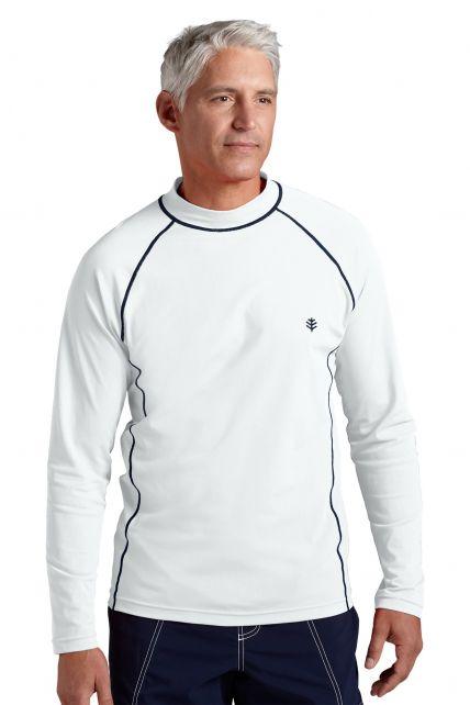 Coolibar---UV-Zwemshirt-voor-heren---Longsleeve---Tulum-Rash---Wit
