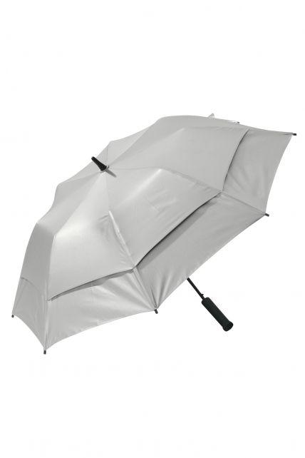Coolibar---UV-werende-Paraplu---Tournament-Golf---Zilver