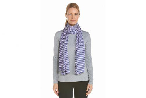 Coolibar---UV-sjaal---Donkerblauw-wit-gestreept