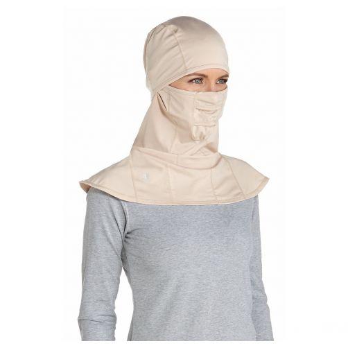 Coolibar---UV-werend-gezichtsmasker-voor-volwassenen---Alverstone---Beige