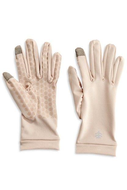 Coolibar---UV-werende-handschoenen-voor-volwassenen---Gannett---Beige