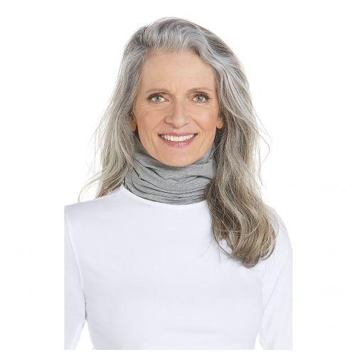 Coolibar---UV-werende-halsbescherming-voor-volwassenen---Key-West---Grijs