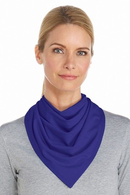 Coolibar---UV-beschermende-bandana---Blauw